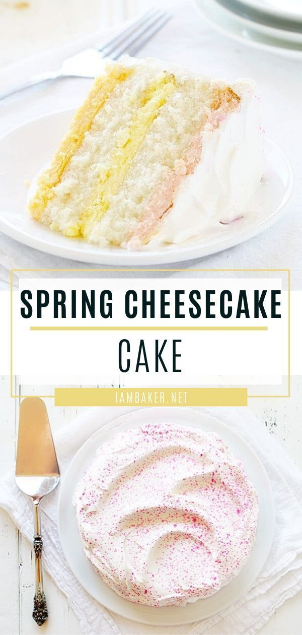 Spring Cheesecake Cake | i am baker -   18 spring desserts Fancy ideas