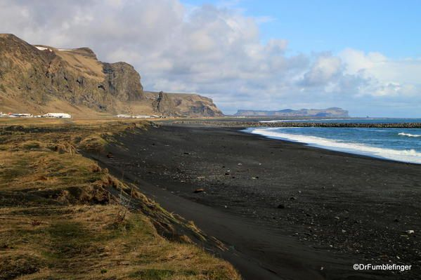 South Iceland; a black sand beach in Vik Note the absence of people - absence note
