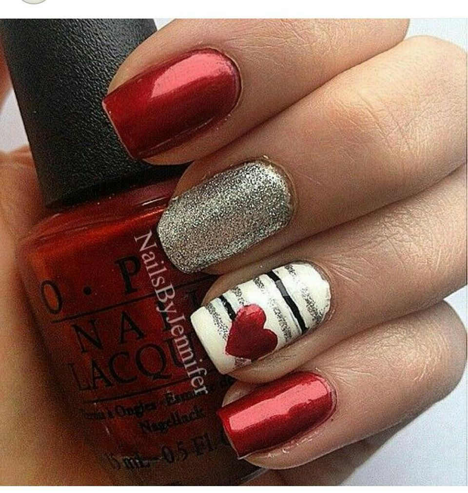 Lovely Valentine Nails Design Ideas 80 Nail Nail And Funky Fingers