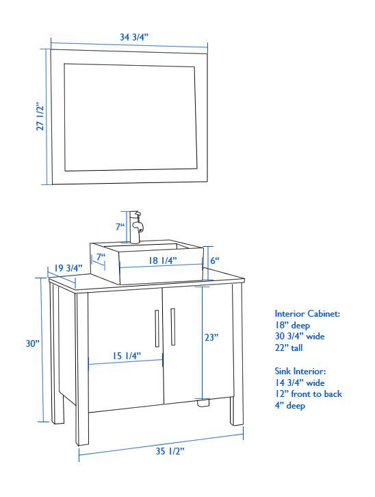 Architecture Bathroom Vanity Height Pertaining To Of If Using Vessel Sink Yahoo Image Sear Bathroom Dimensions Vessel Sink Bathroom Vanity Bathroom Floor Plans