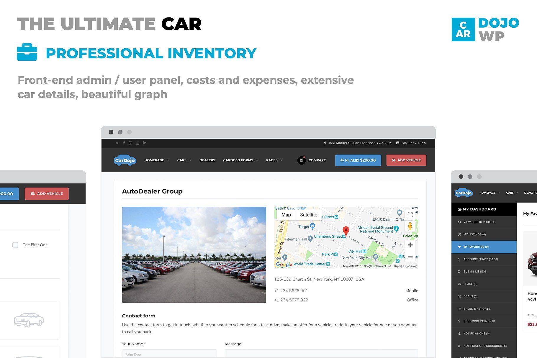 CarDojo Automotive WordPress ThemeCarDojo WordPress