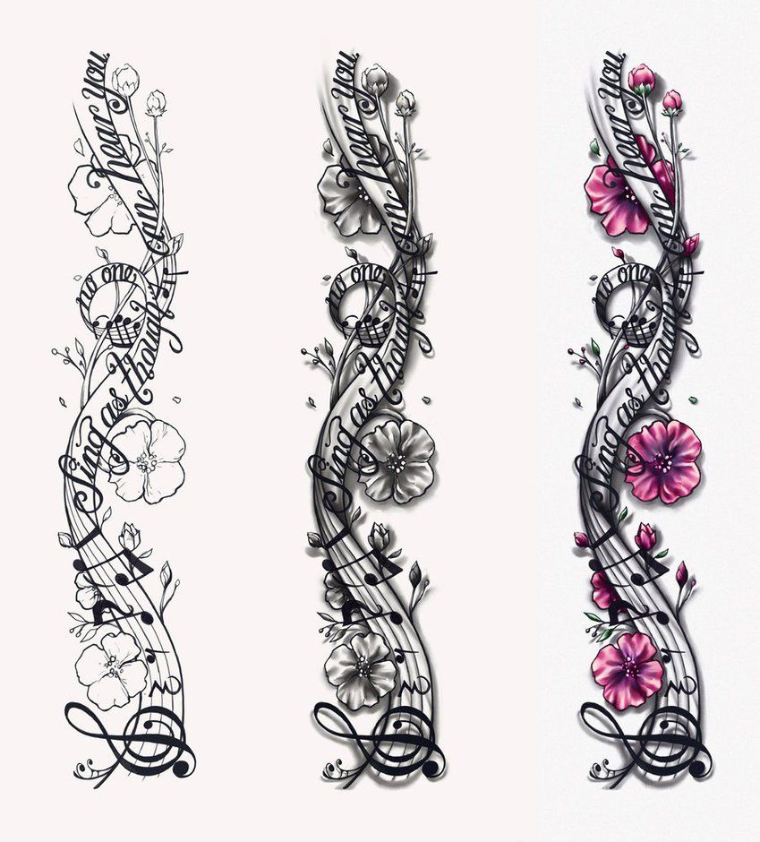 Music Notes Designs | Musical Notes Tattoo Design by CrisLuspoTattoos -   23 music tattoo hand