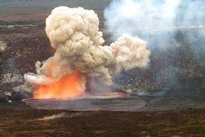 Lava Explodes From Hawaii's Kilauea Volcano After Crater Collapses - http://earthchangesmedia.com/lava-explodes-from-hawaiis-kilauea-volcano-after-crater-collapses