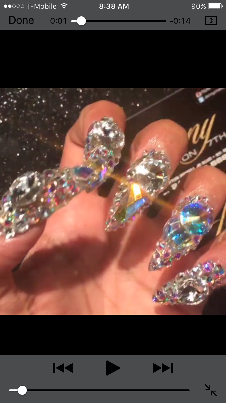 Cardi B S Nails: Super Turquoise Sided Brush Dotting