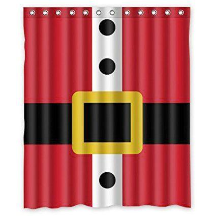 "Custom Merry Christmas Fabric Waterproof Bathroom Shower Curtain 66/"" x 72/"""
