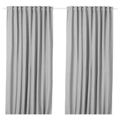 Majgull Tenda Semioscurante 2 Teli Grigio Chiaro 145x300 Cm Ikea It Room Darkening Curtains Curtains Curtain Rods