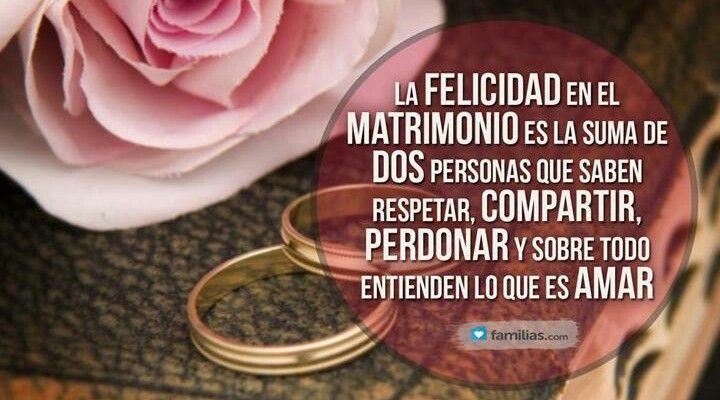 Matrimonio Que Es : La felicidad en el matrimonio es suma de dos personas
