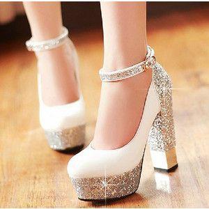 ウエディングシューズ パンプス スリッポン レディース ハイヒール 花嫁 結婚式 二次会 靴 大きいサイズ ポインテッドトゥ アーモンドトゥ