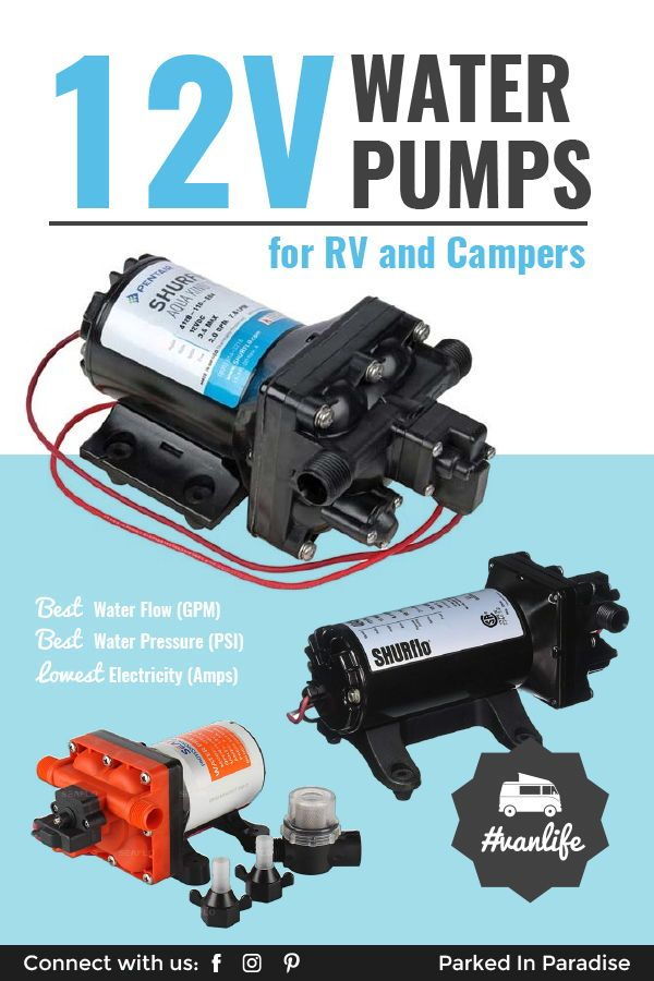 The Best 12 Volt Rv Water Pump For Your Camper Rv Water Water Pumps Van Life
