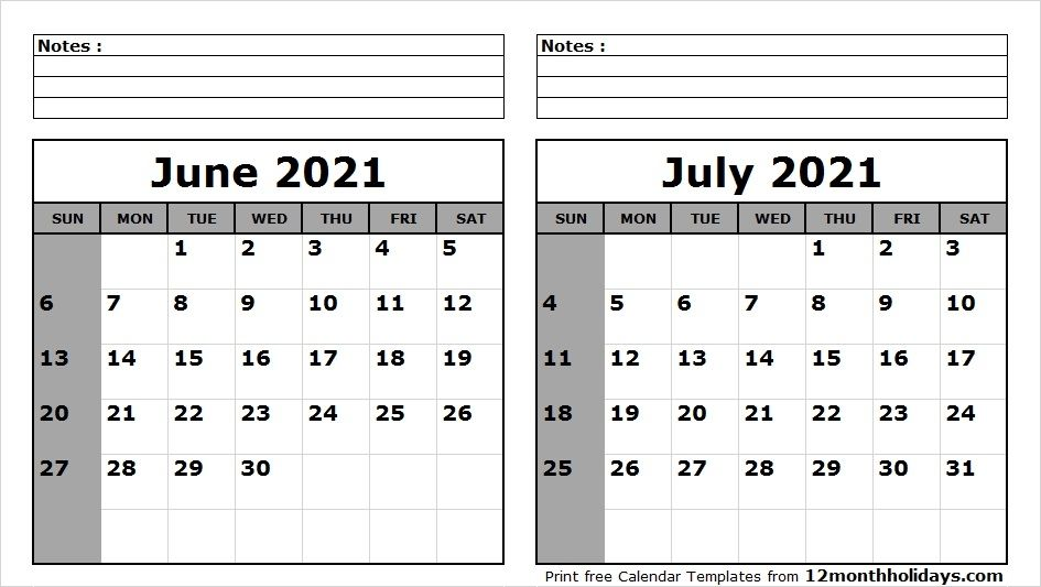 May June July 2021 Calendar in 2020 | 2020 calendar template