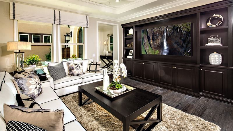 Residence 1 Floor Plan In The Cottages At Auberge  Calatlantic Cool The Living Room San Diego Design Ideas