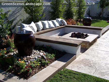 Landscapeing with a bench | Click Here To See Portable ...