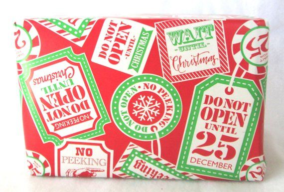 No Peeking, Do Not Open Unitl Christmas Wrapping Paper, Holiday Gift
