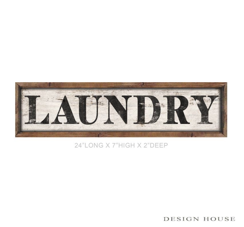 """Wooden laundry sign framed out in wood handmade 24""""x7""""x2"""" laundry room signs mudroom signs laundry room decor industrial laundry sign by DesignHouseDecor on Etsy https://www.etsy.com/listing/248587522/wooden-laundry-sign-framed-out-in-wood"""