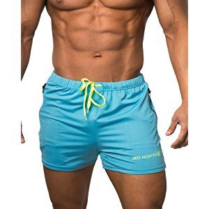 41a6e7f419b0 Jed North Men's Fitted Shorts Bodybuilding Workout Gym Running Tight  Lifting Shorts