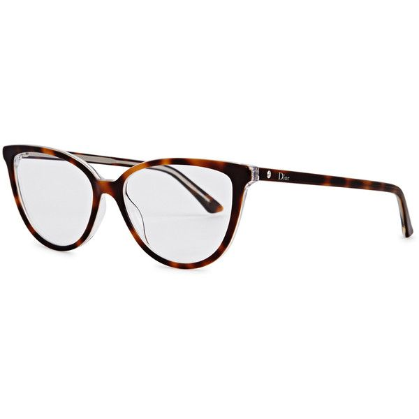 0ebe43c01a9 Christian Dior Montaigne 33 tortoiseshell cat-eye optical glasses (€235) ❤  liked on Polyvore featuring accessories