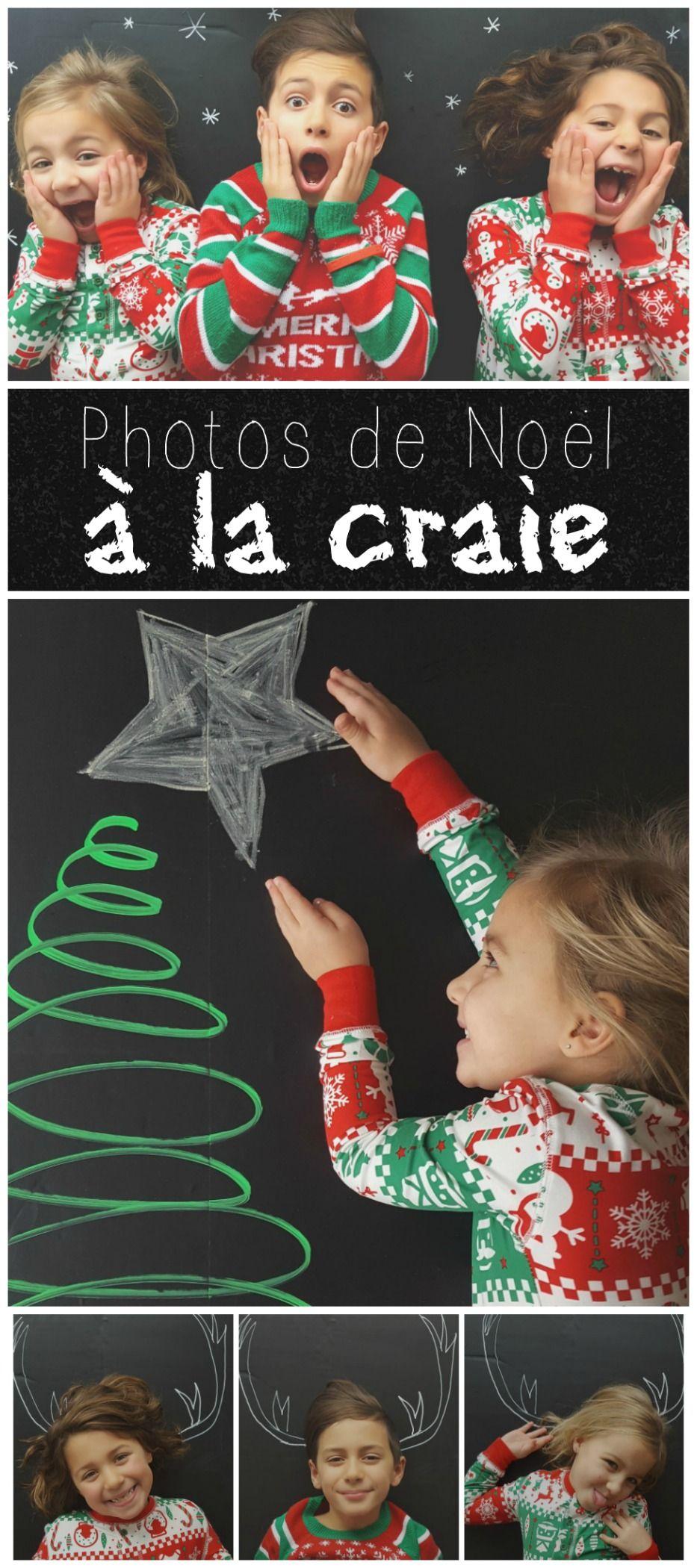 Créez de belles photos de famille pour Noël avec une ardoise adhésive et quelques craies! #photography #chalkboard #christmas #noel #familypictures