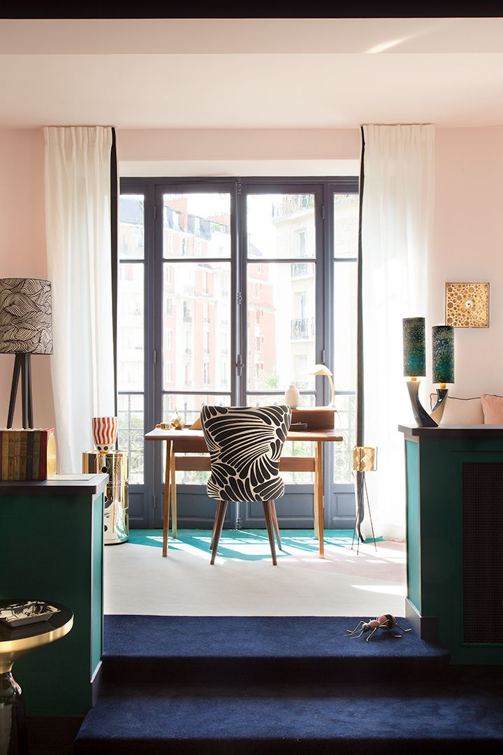 Anne sophie pailleret architecte dintérieur appartement auteuil 16 ème use of color pinterest interiors office workspace and living rooms