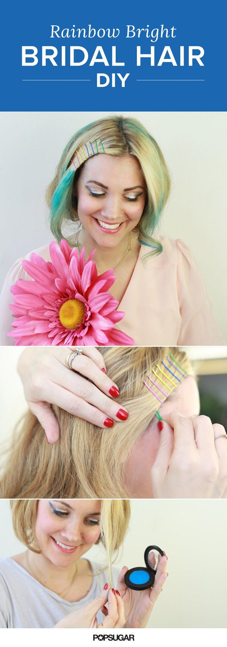 Pin for Later: How to Wear Rainbow Hair For Your Wedding Day