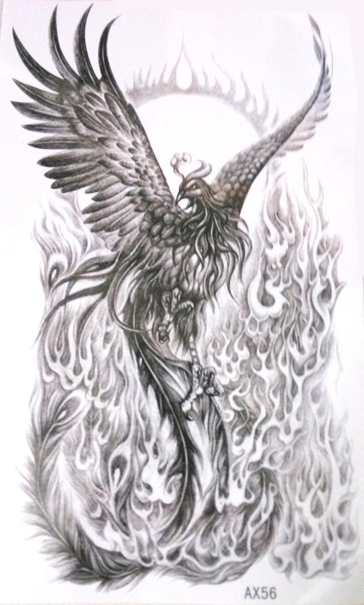 7ff6f0ec2b48b interesting spin on a phoenix, even if it is a temporary tat Phoenix Tattoo  Sleeve