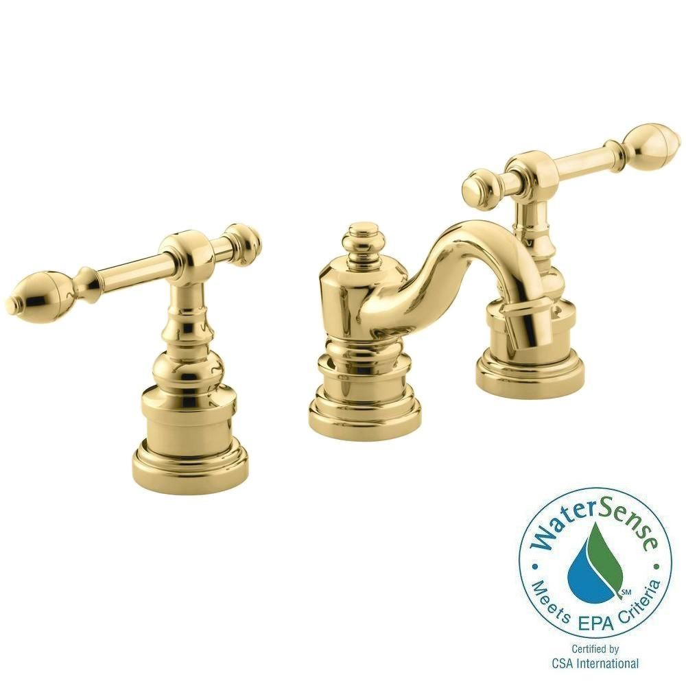 Iv Georges Brass 8 In Widespread 2 Handle Low Arc Bathroom Faucet