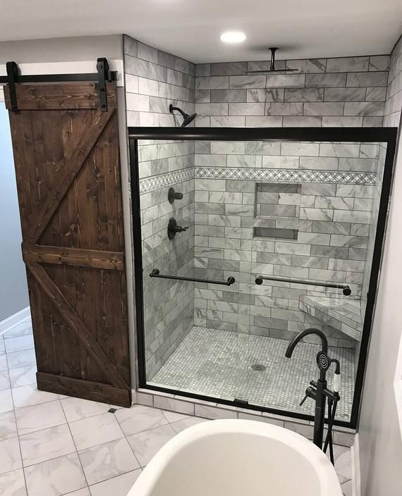 These Custom Made Sliding Barn Doors Will Definitely Make A Statement In Your Home Bathroom Remodel Master Small Bathroom Remodel Bathroom Remodel Designs