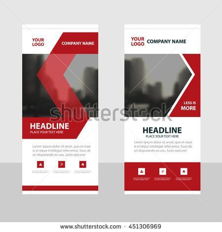 Red black Business Roll Up Banner flat design template ,Abstract ...