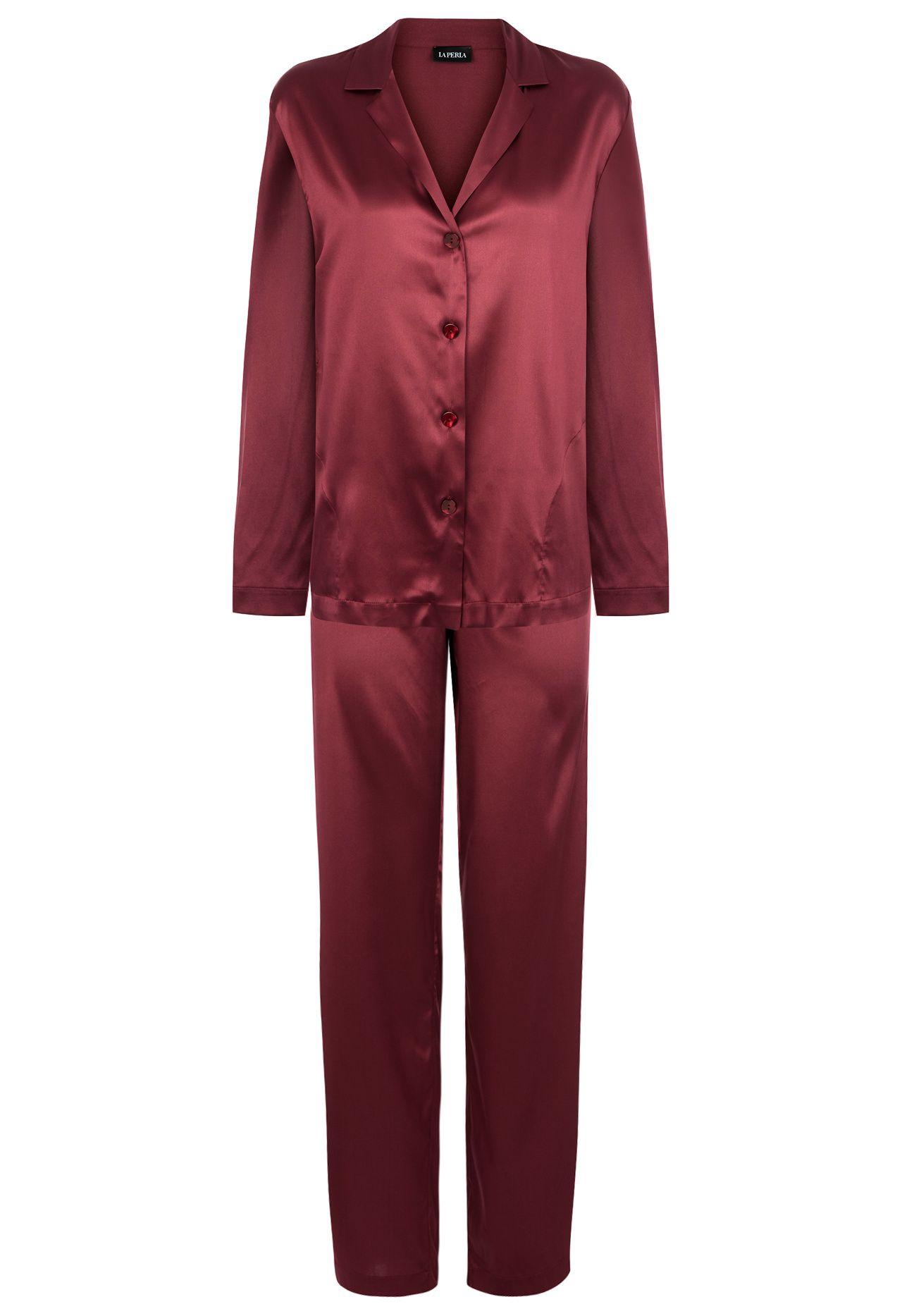 0e777356d6 Silk Florentine Red Silk Pyjama Set