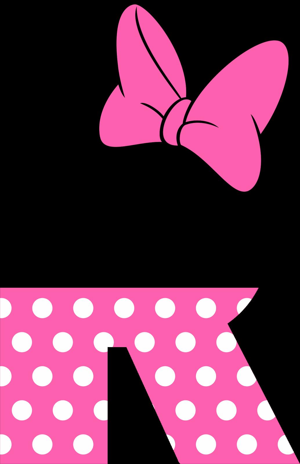 Precioso Alfabeto Tipo Minnie Rosa