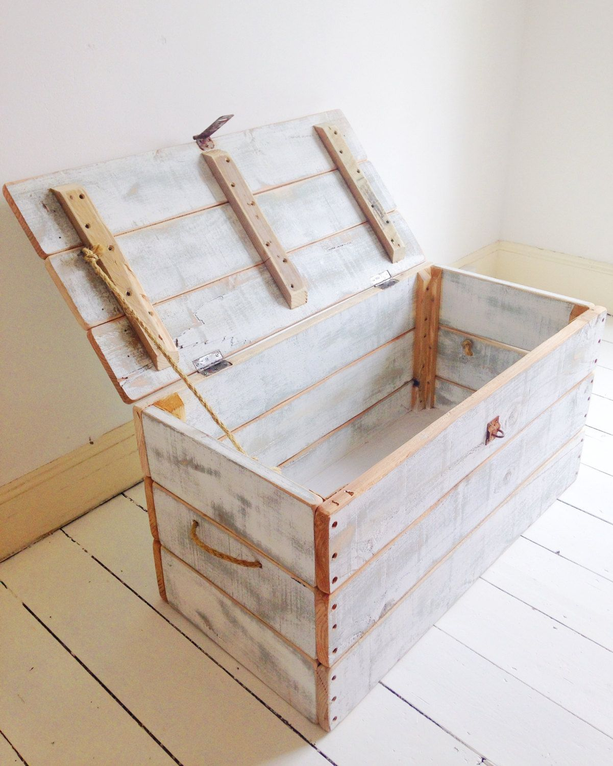 Coffre En Bois De Palette Handmade Wooden Chest Trunk Palette Pinterest