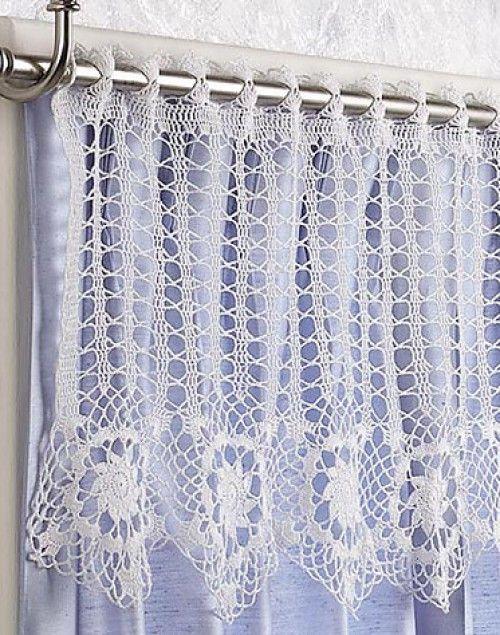 Crochet For Children: Star Flowers Valance - Free Pattern | Vorhänge ...