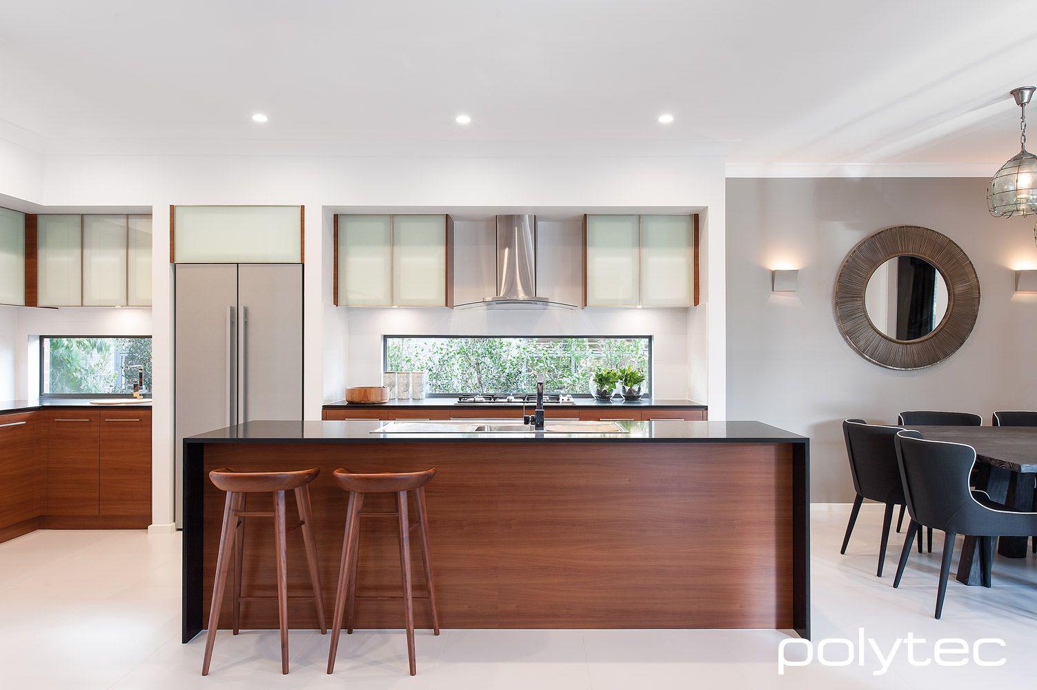 Overhead Cupboard Doors In Aluminium 5mm 55mm Satin Aluminium With