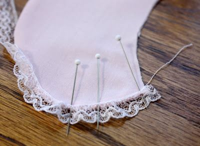 Creations By Michie` Blog: Adding Lace Edging To A Collar