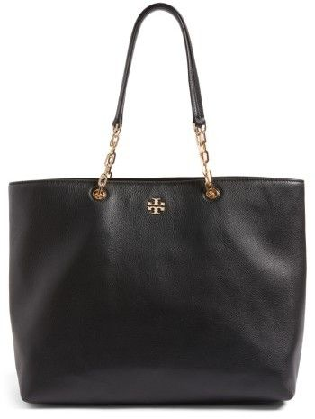 fc41cab40 Tory Burch Frida Pebbled Leather Tote - Black A timeless tote that pairs  well with anything-and is spacious enough to carry practically  everything-features ...