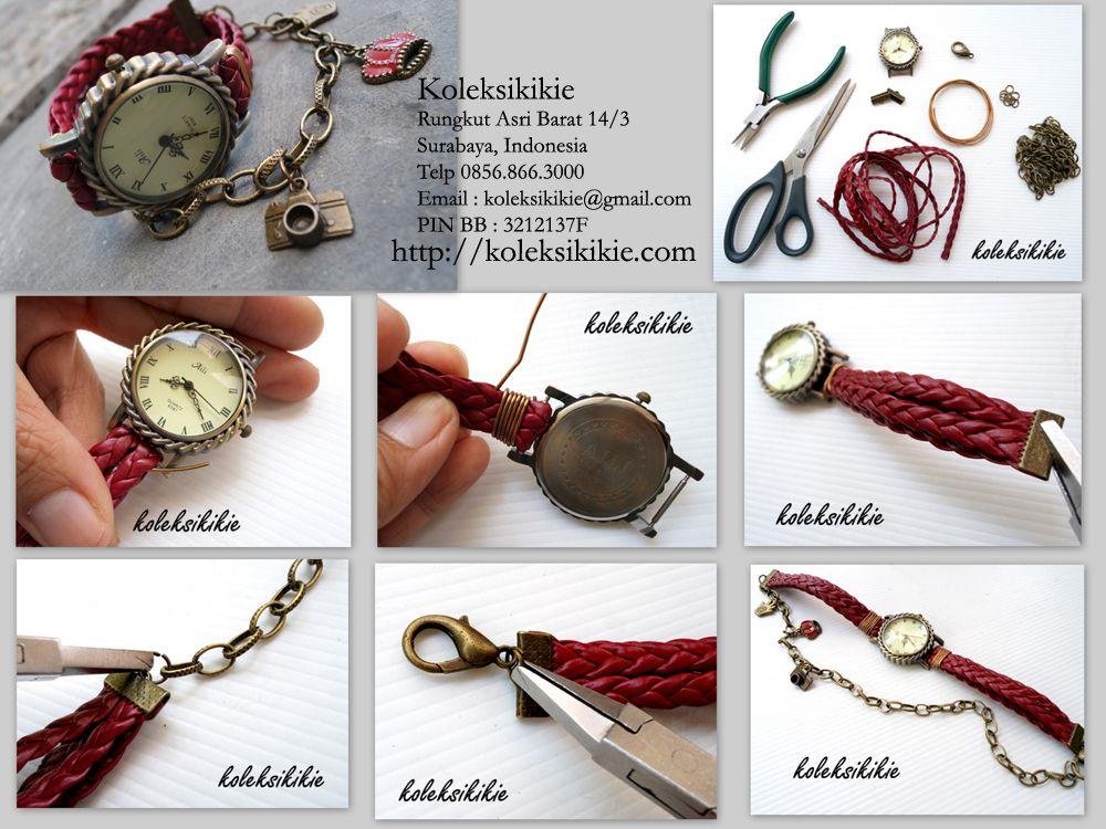 tutorial-membuat-jam-tangan | DIY Jewelry Part 2 | Pinterest ...