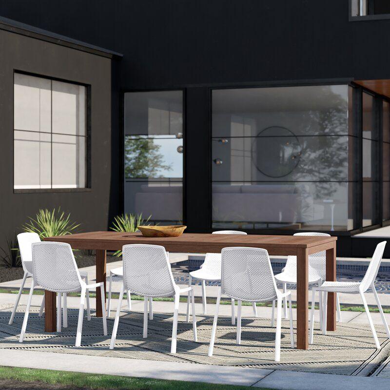 Stellan 9 Piece Dining Set Reviews Allmodern In 2020 Outdoor Dining Set Patio Dining Set Dining Set