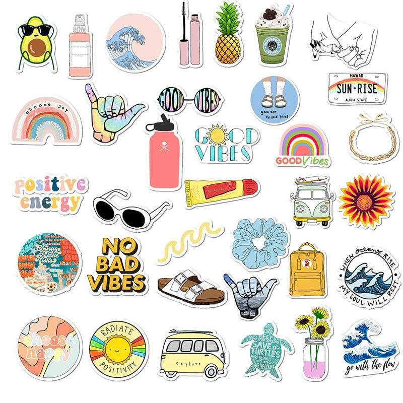 35pcs Lot Vsco Sticker Pack In 2020 Print Stickers Cute Stickers Aesthetic Stickers