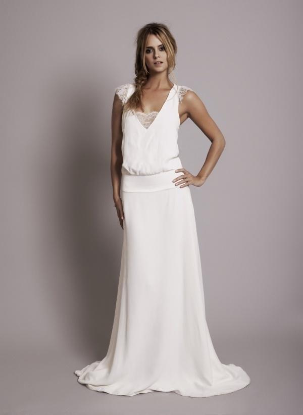 mariage: une robe bohème chic grâce à rime arodaky | dresses
