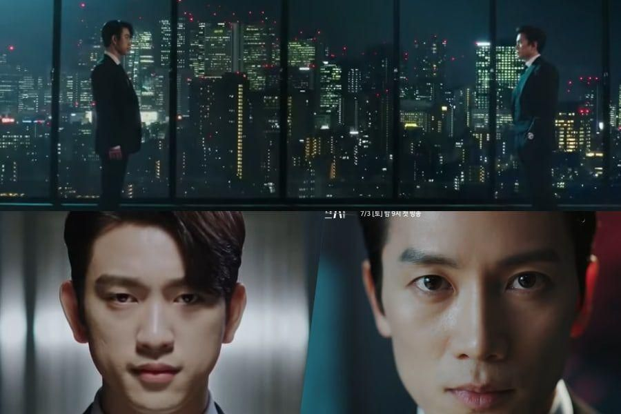 """Watch: Ji Sung And GOT7's Jinyoung Have Two Vastly Different Opinions About The Law In """"The Devil Judge"""" Teaser"""