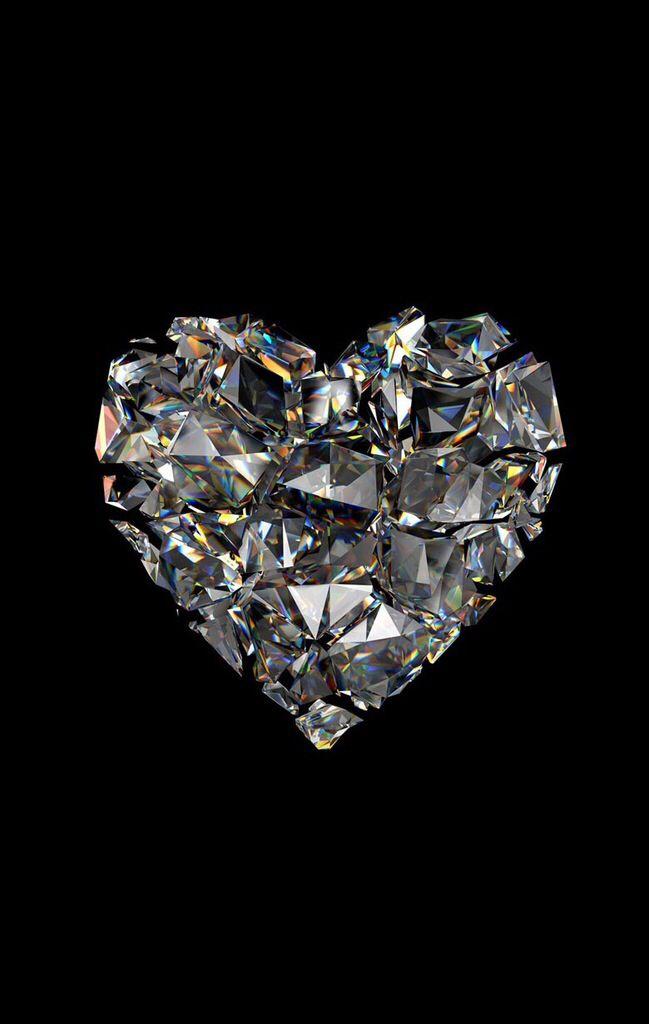Diamond Heart Iphone Wallpaper Pinterest Heart Wallpaper