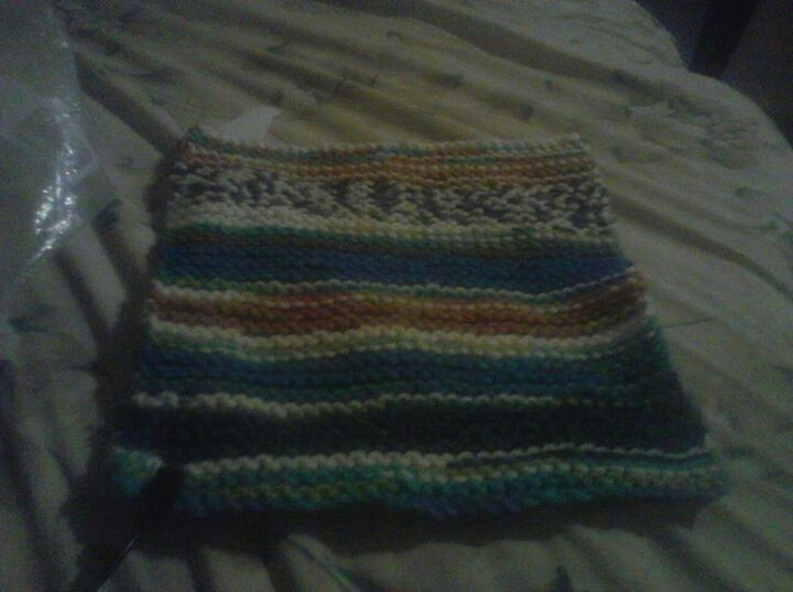 Knitted purse front panel