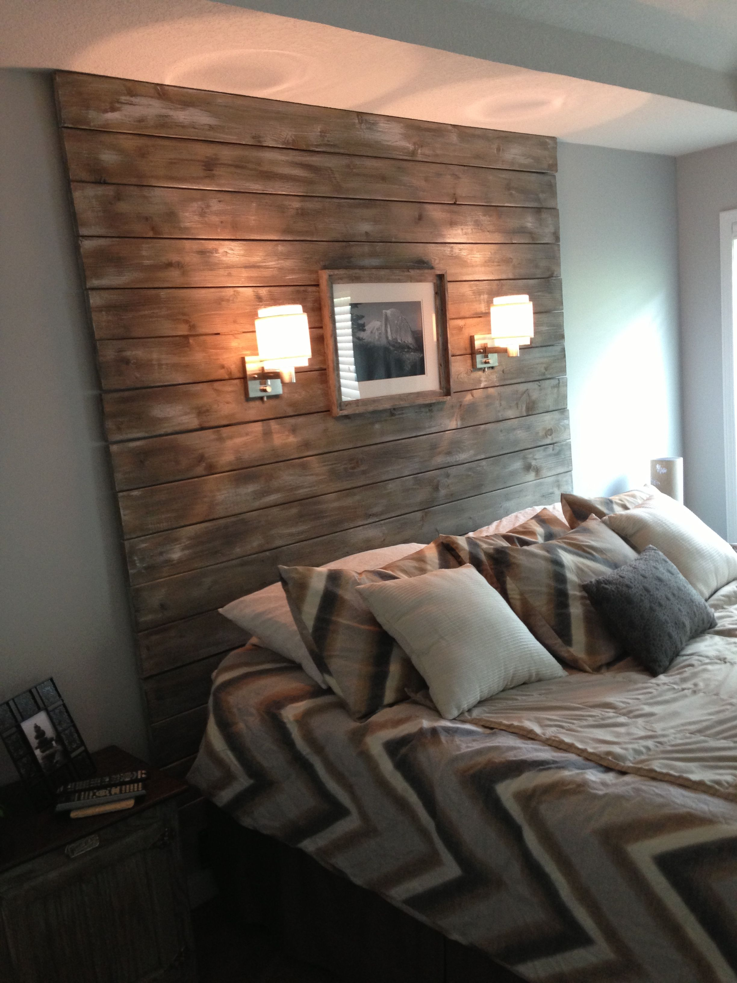 Plank And Distressed Headboard Easy Peasy Creative