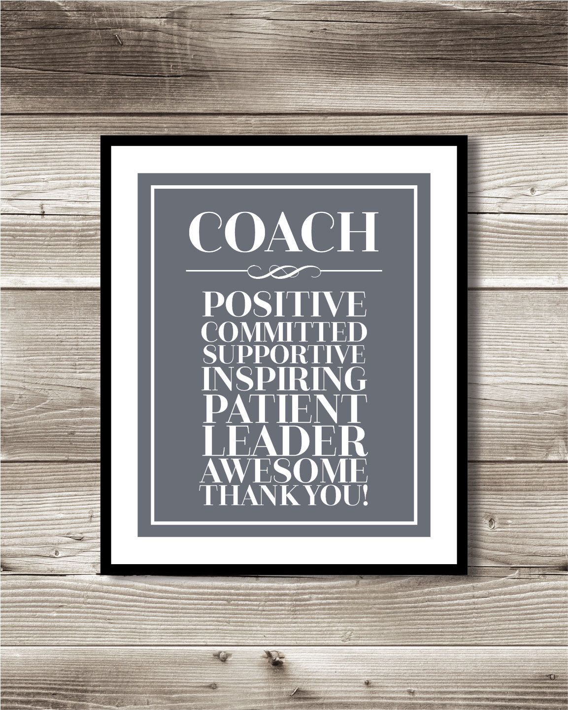 Coach Thank You Print; Gift for your coach; Digital Print