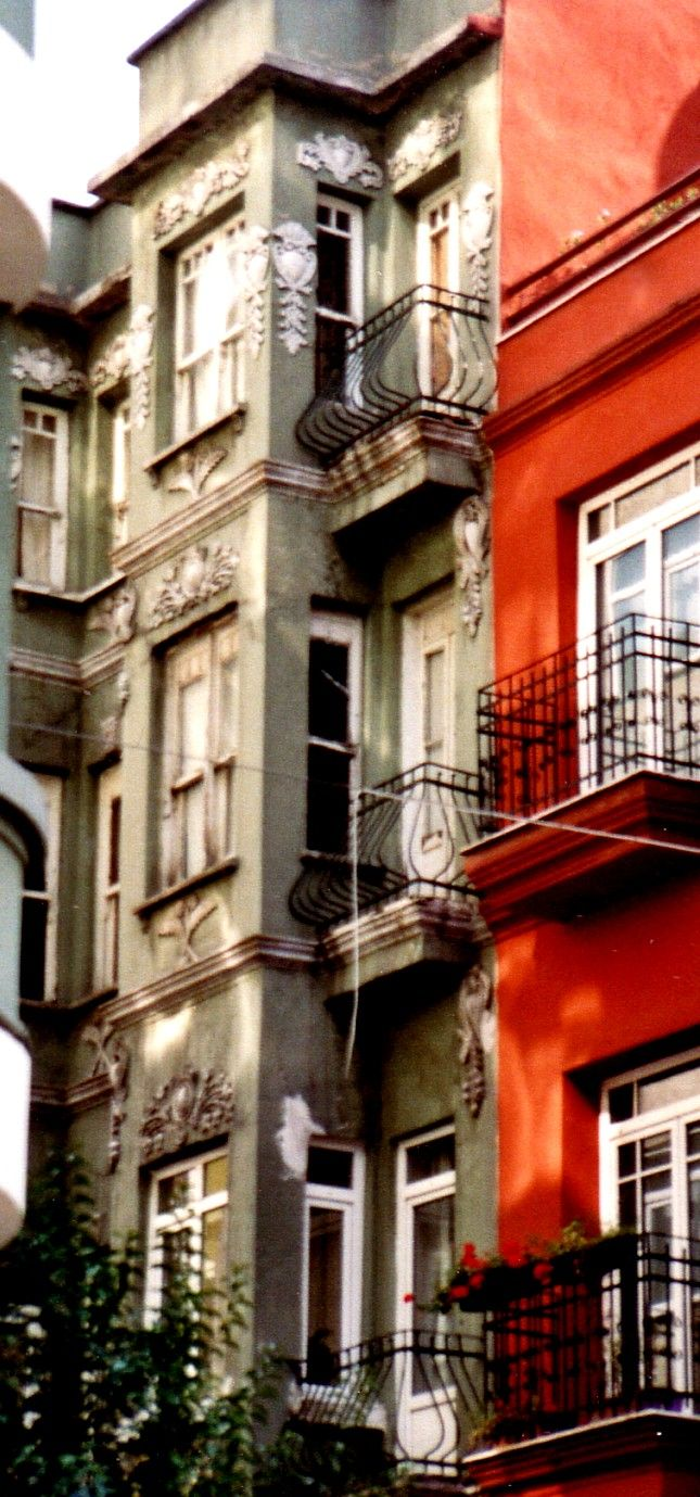 one of the apartment houses in Cihangir,Istanbul