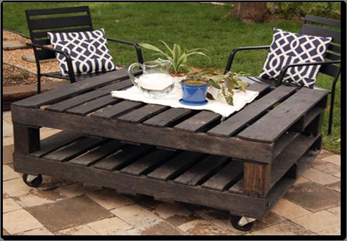 Mesa Parihuelas Con Garruchas Disponible A Pedido S 500 00 Pallet Outdoor Pallet Diy Rolling Table
