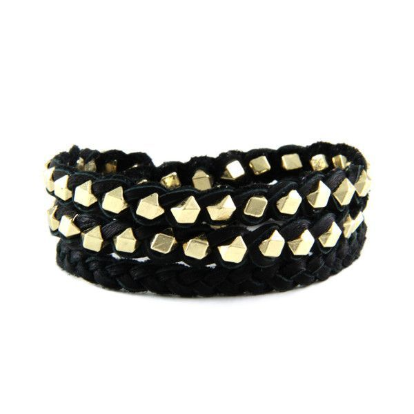 All Wrapped in Black Leather Bracelet