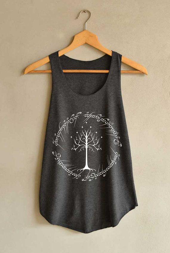 Rings Tree Gondor Design Shirt The Lord Of The By Blackpearlmaker Tank Tops Women Shirt Designs Tank Top Shirt