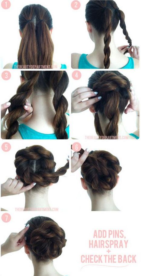 Resultado de imagen para peinados sencillos para cenas