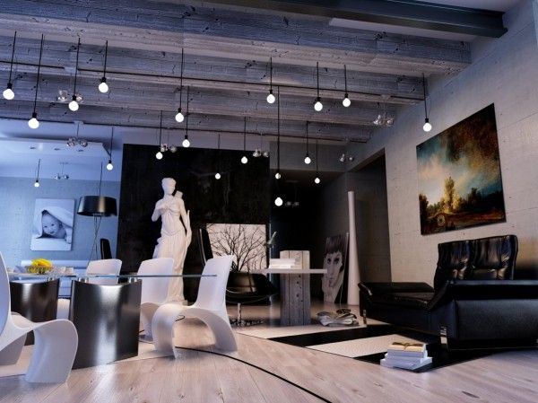 This Ultra Modern Living Room Plays On The Theme Of Black And