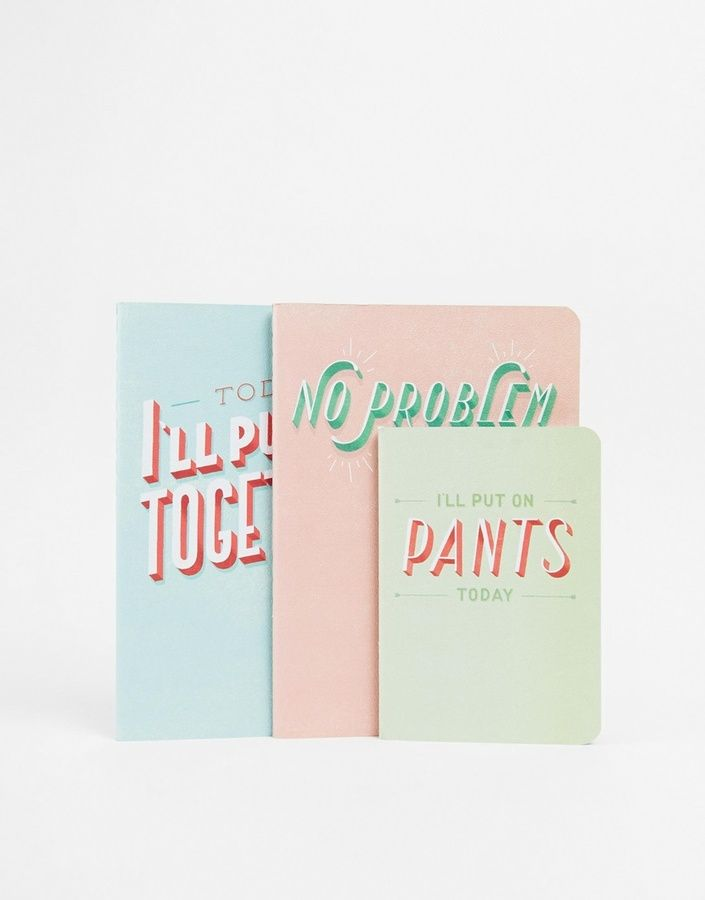 Gifts Daily Dishonesty: The Daily Note (Set of 3 Notebooks) - Multi